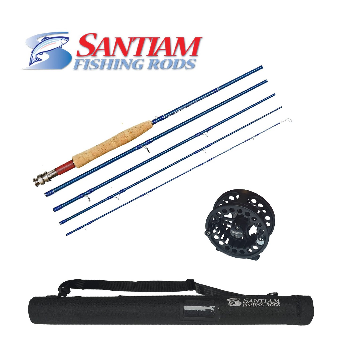 Santiam fishing rods travel fly combo for Fishing combo sale