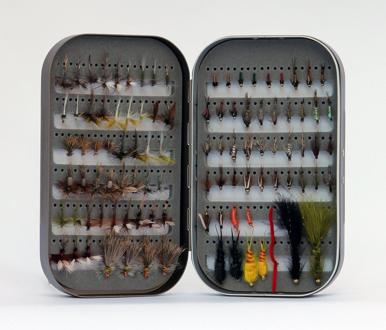 Barnsley fly box 100 assorted fly fishingnew for Fly fishing box