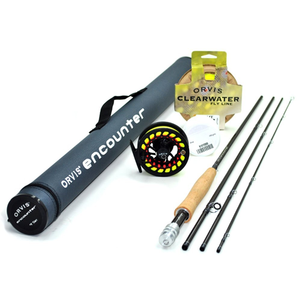 Orvis encounter 5 weight 9 39 fly rod outfit fishingnew for Trout fishing rod and reel